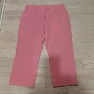 Lilly Pulitzer pink crop stretch pants.